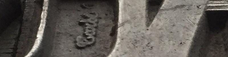 Caractère Génoises de la fonderie Tarbé