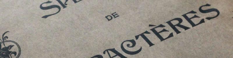 specimen de caractère de l'imprimerie Gruot