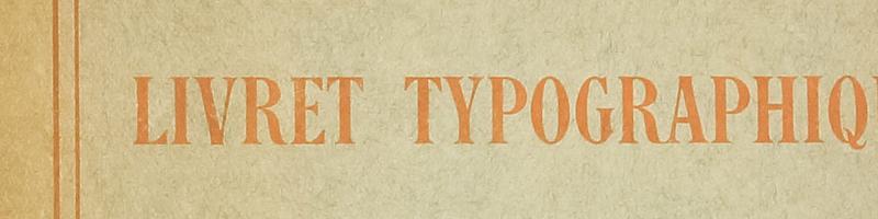 Livret typographique Deberny